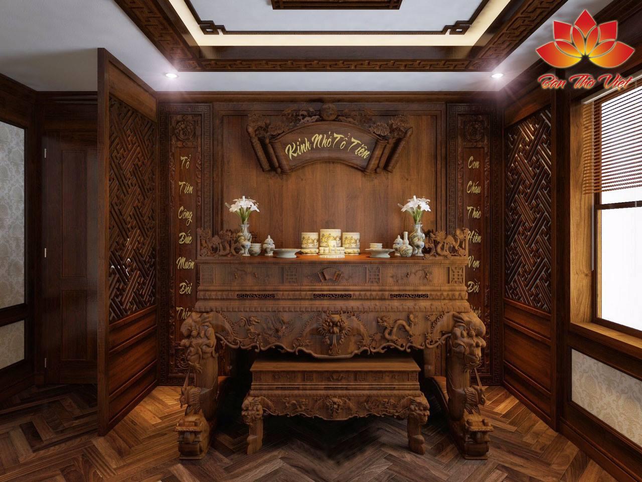 Nhận tư vấn, thiết kế và thi công nội thất phòng thờ ở Hải Dương trọn gói