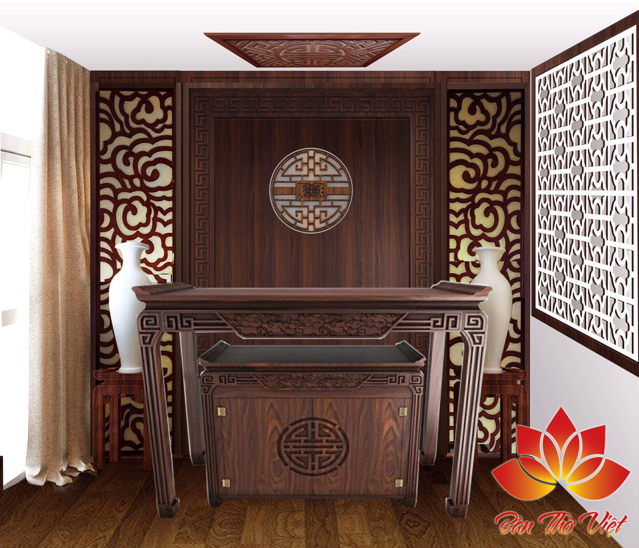 TÓP các mẫu thiết kế trần phòng thờ cực đẹp bạn nên xem
