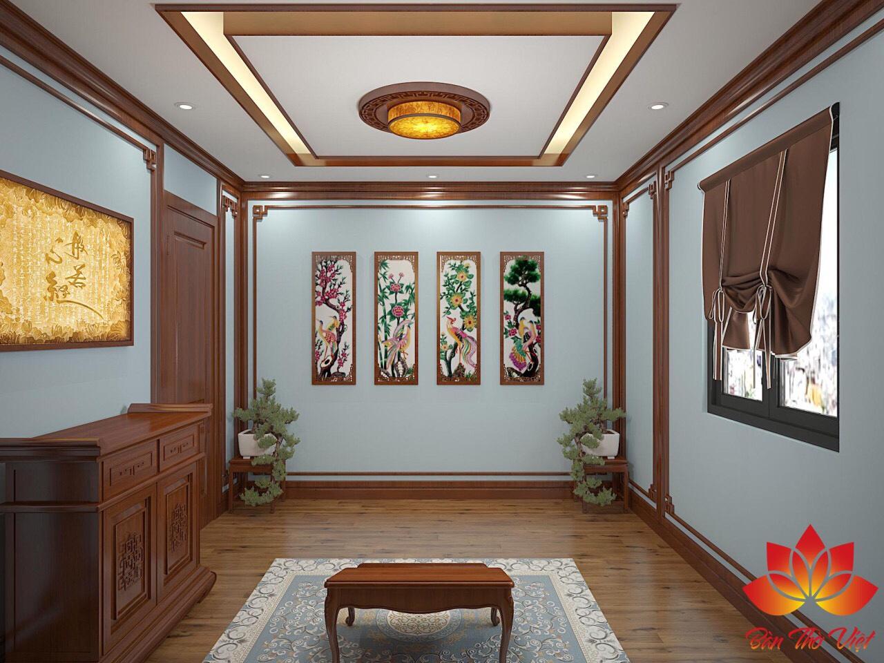 Gợi ý những mẫu thiết kế nội thất phòng thờ đẹp, hiện đại nhất 2019