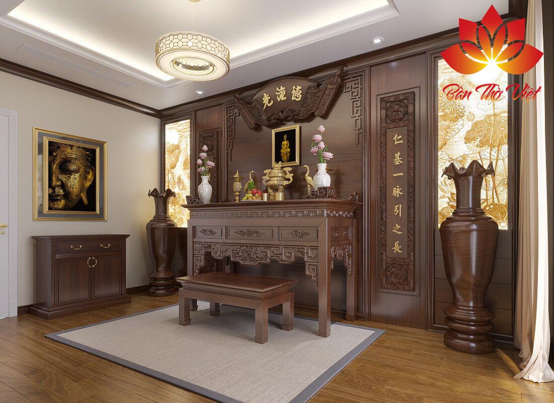 Những mẫu thiết kế phòng thờ gia đình chuẩn phong thủy