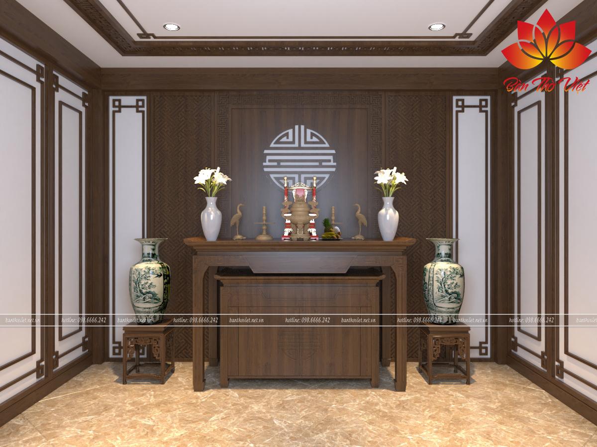 Thiết kế và thi công phòng thờ cho anh Phương-Tôn Thất Tùng