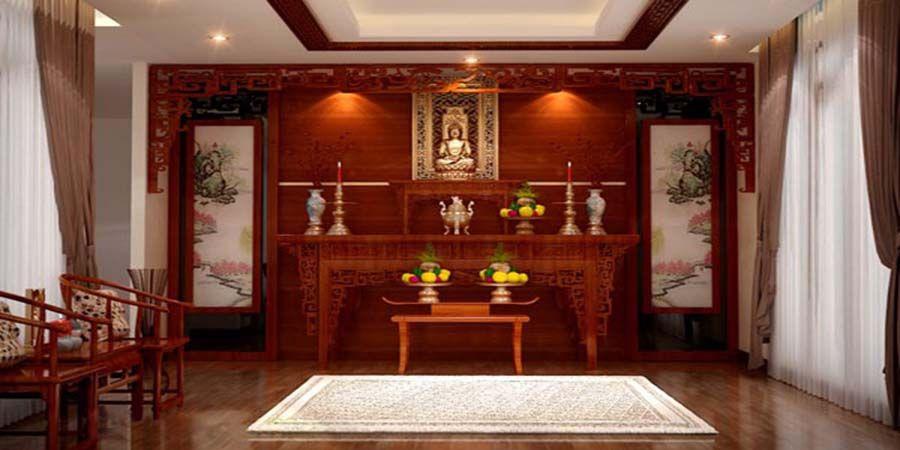 Phòng thờ 3 gian phù hợp ngay với cả không gian phòng thờ trong gia đình